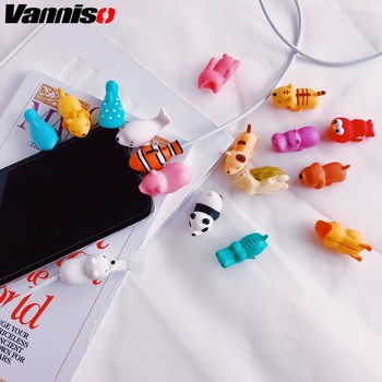 Dropshipping 1pcs Cable Bite Panda Protector for Iphone Samsung Xiaomi Huawei cable Winder Phone holder chompers cat Dog Animal