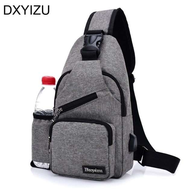 New Anti Theft Travel Chest Pack Woman Sling Bag Business Crossbody Men Pouches Vintage Shoulder