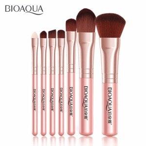 Image 3 - BIOAQUA Juego de 7 brochas de maquillaje para mujer, conjunto de brochas de maquillaje para rostro, cosmética Facial de belleza para ojo, sombra, base, colorete, brocha de maquillaje