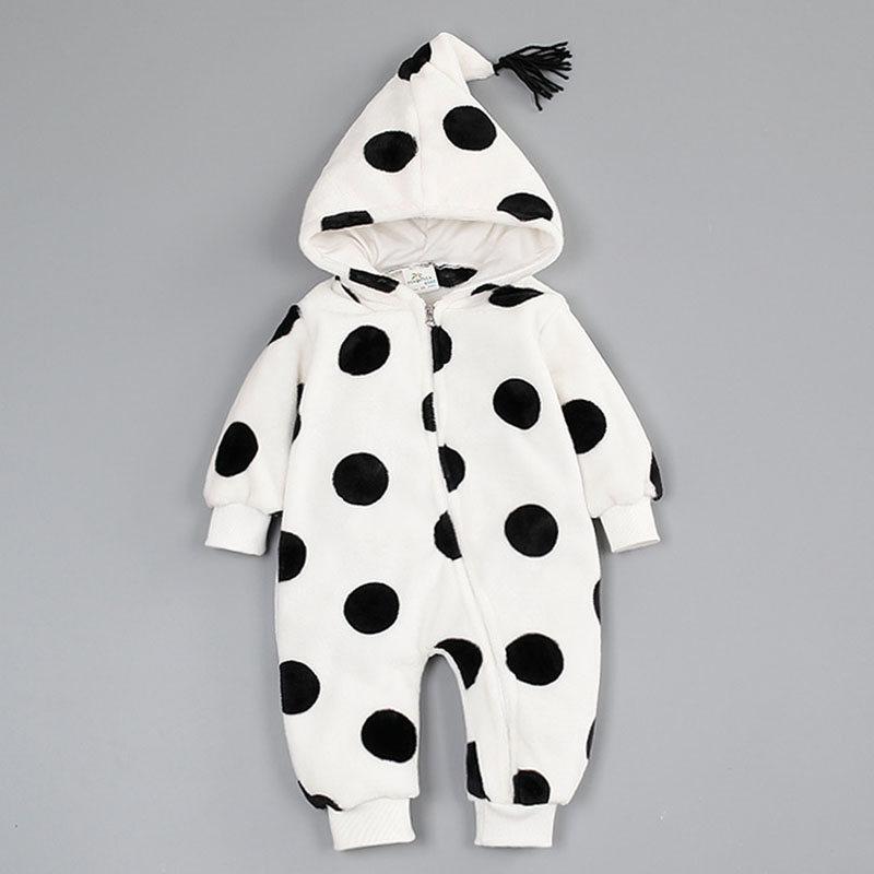 Winter Style Baby Clothes Baby Girl Boy Clothes Stars&Dots Hoodie Cotton Jumpsuits Baby Costume Newborn Coveralls Rompers cotton baby rompers set newborn clothes baby clothing boys girls cartoon jumpsuits long sleeve overalls coveralls autumn winter