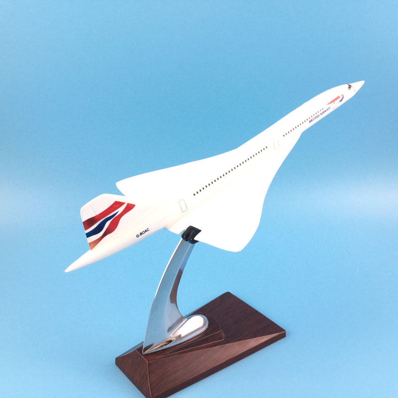 FREE SHIPPING 31CM BRITISH AIRWAYS CONCORDE METAL BASE RESIN MODEL PLANE AIRCRAFT MODEL TOY AIRPLANE BIRTHDAY GIFT