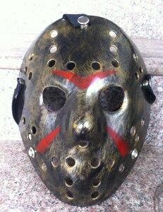 Image 5 - 1pcs/lot Black Friday NO.13 Jason Mask Voorhees Freddy hockey festival party Halloween masquerade (adult size) Masks 100gram