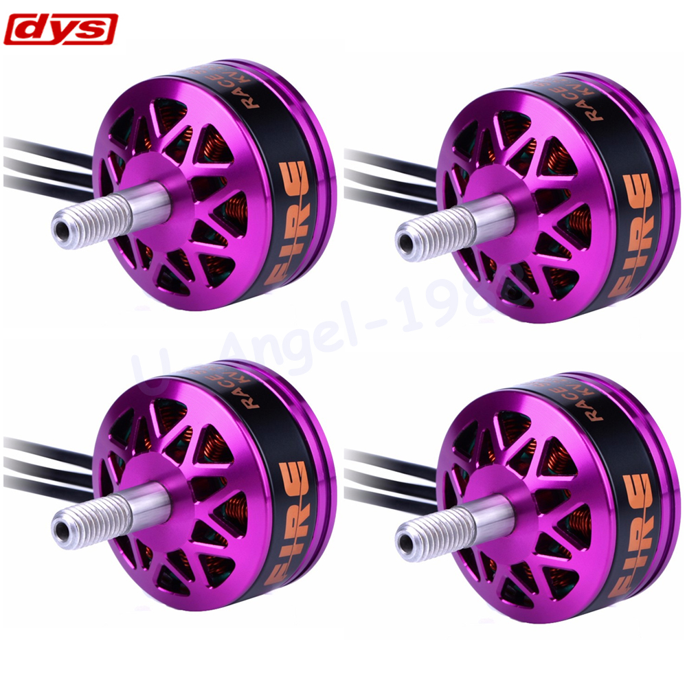 4pcs/lot DYS Fire 2206 2100KV 2300KV 2600KV 2-4S Brushless Motor 2 CW 2 CCW For 200 210 220 280 FPV Racing Frame dys se1806 2550kv cw ccw brushless motor set