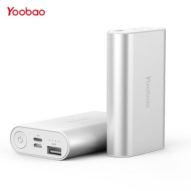 Портативное зарядное устройство YOOBAO 6000 мАч Быстрая Зарядка power Bank портативный внешний аккумулятор повербанк 6000 мАч для iPhone 7 6 5 s для Xiaomi Mi