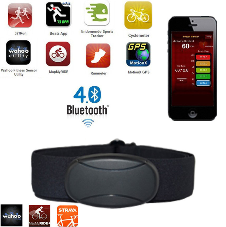 PULSOMETRO PECTORAL, CORREA PARA EL PECHO, WIRELESS, BLUETOOTH, APTO PARA IPHONE, APP Strava Runtastic Endomondo Sports Tracker