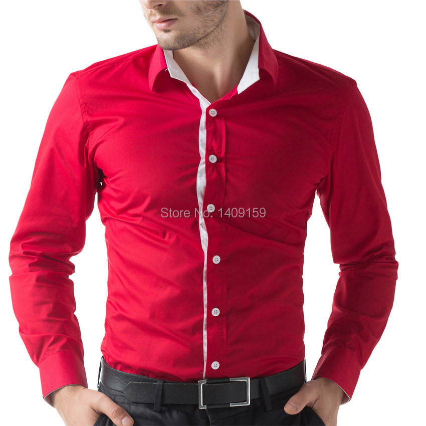 Buy new fashion brand slim fit mens Buy white dress shirt