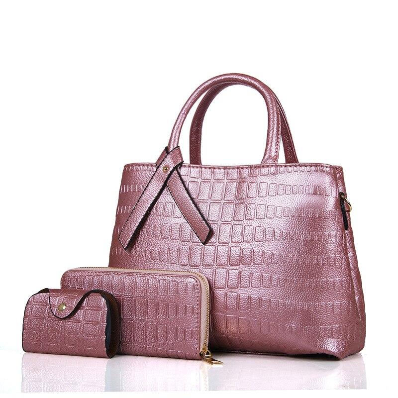 9275fb83972b6 Neue Ankunft Frauen Vintage Verbund Taschen Gefälschte Marke Taschen Luxus  Schulter Taschen Patent Leder Handtasche + Umhängetasche + Geldbörse sac in  Neue ...