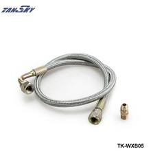 TANSKY-24″ JDM Oil Feed Line Cable Kit T3/T4 For Toyota Nissan Stainless Steel Braided TK-WXB05