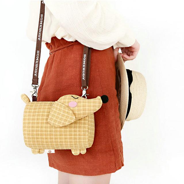 Creative Soft Dog Shaped Shoulder Bag