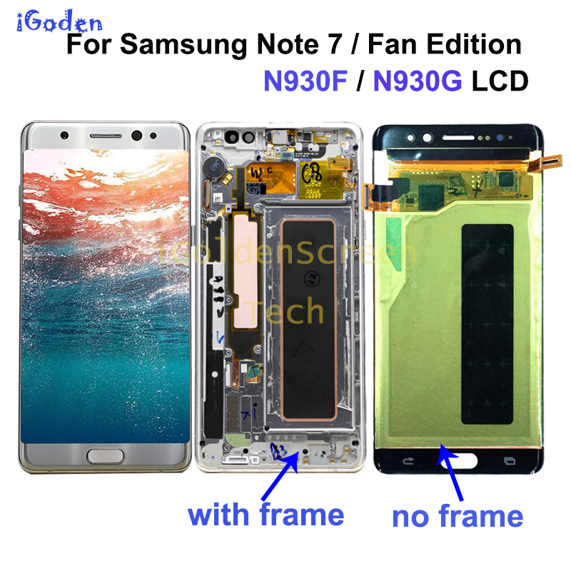 Super AMOLED For Samsung Note Fan Edition FE Note 7 N930F N935F LCD display touch screen