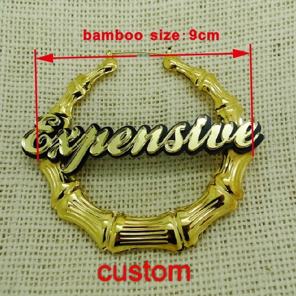 Large Bamboo Name Customized Earrings In Stud From Jewelry Accessories On Aliexpress Alibaba Group