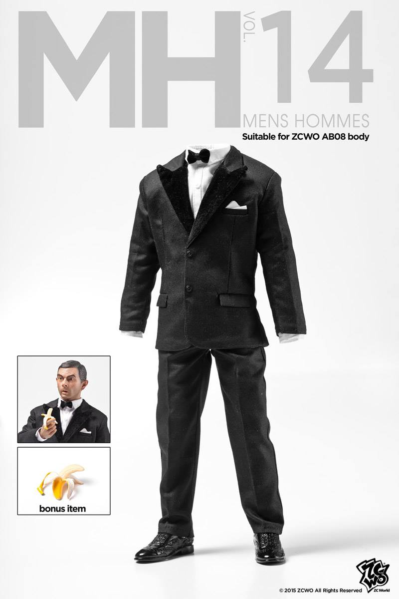 1:6 Scale male Figure Accessory clothes Johnny English suit for 12