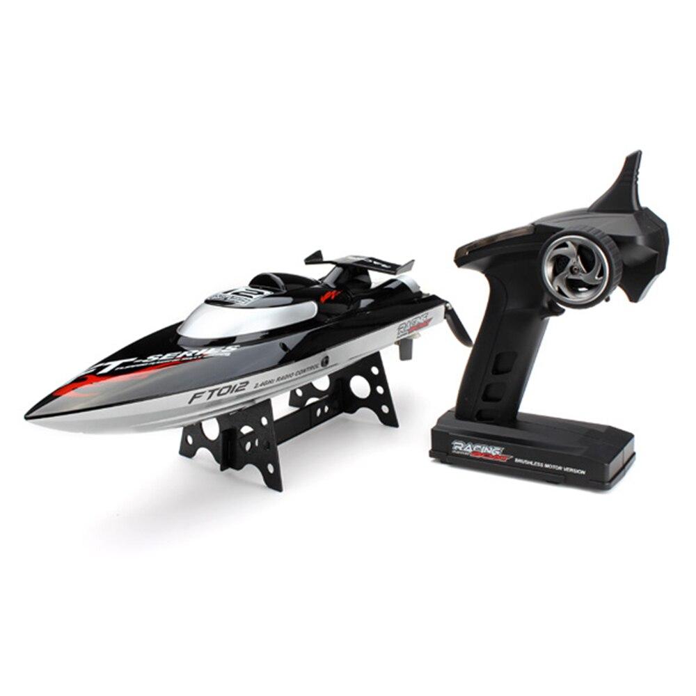 FT012 bateau RC 2.4 sans brosse télécommande jouets de course avec système de refroidissement par eau 45 km/h bateau à grande vitesse VS FT011