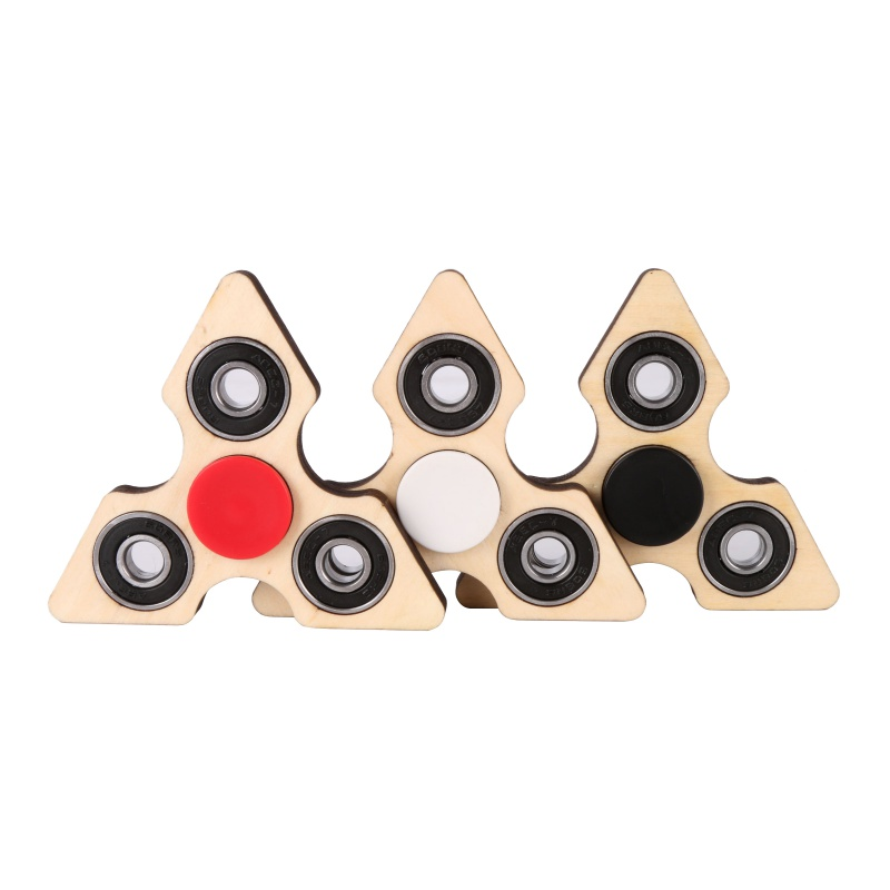 3 Angle Fidget Hand Spinner Triangle DIY Wooden Puzzle Finger Toy EDC Focus Toys For ADHD Austim Stress Relief Toys