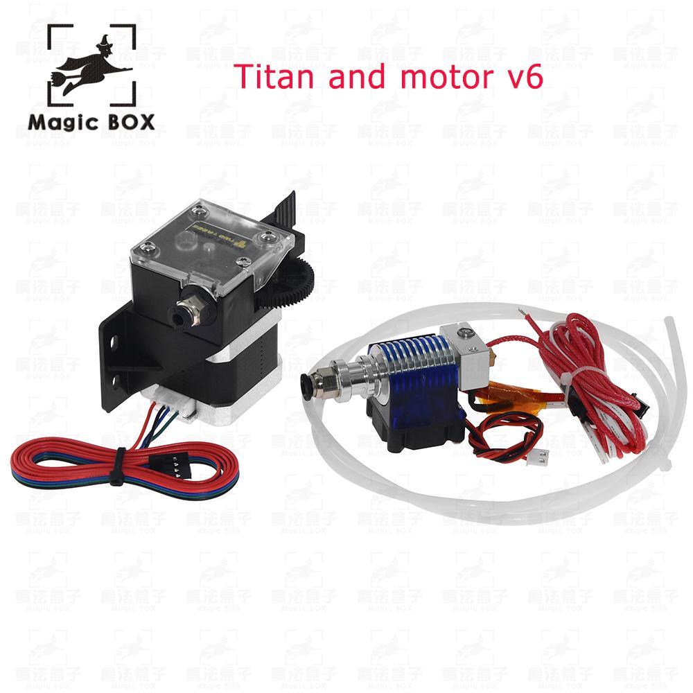 3d drucker teile titan Extruder Full Kit mit NEMA 17 Stepper Motor unterstützung sowohl Direkte Stick und Bowden Montage Halterung