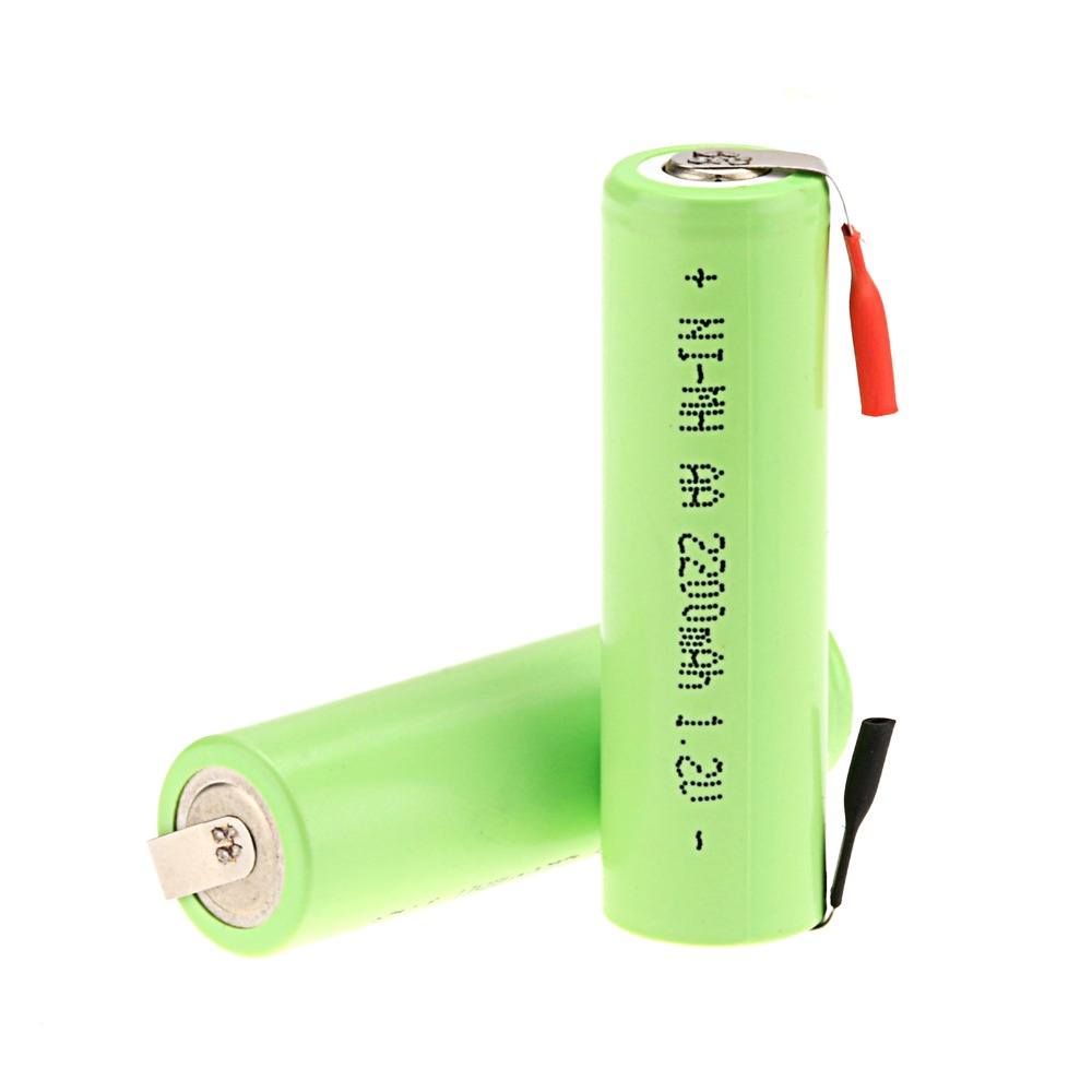 2Pieces Anmas Power <font><b>AA</b></font> <font><b>1.2V</b></font> 2200mAh <font><b>Ni</b></font>-<font><b>MH</b></font> NiMH Rechargeable <font><b>Battery</b></font> For Electric Shaver Razor image