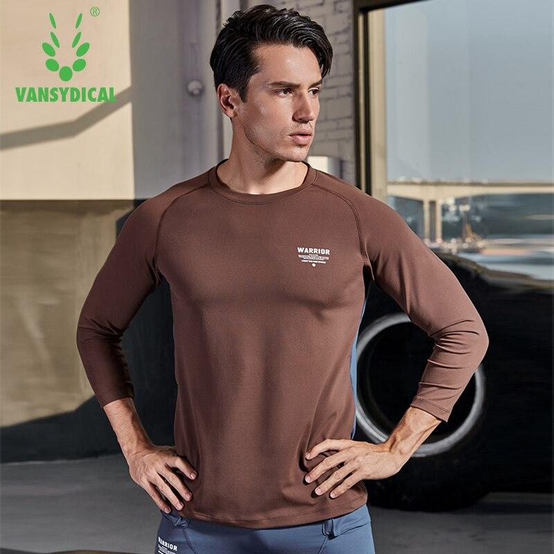 Chemise de Sport hommes Fitness course t shirts 3/4 à manches longues Sport Top tenue de Sport élastique Gym musculation entraînement T shirt Rashgard