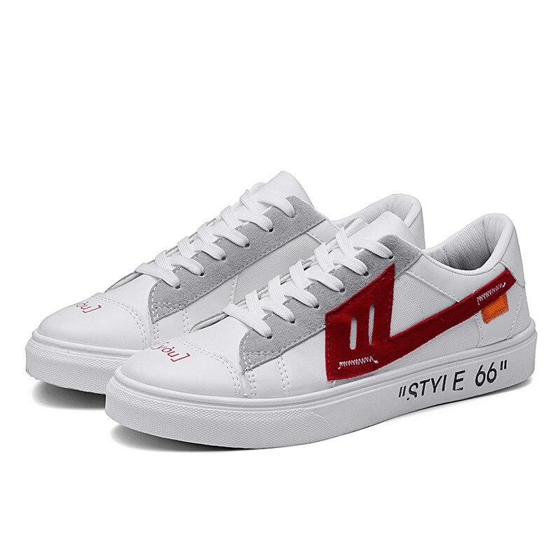 2019 Hot explosions étudiants baskets à fond plat tendance petites chaussures blanches version coréenne de chaussures décontractées respirantes hommes