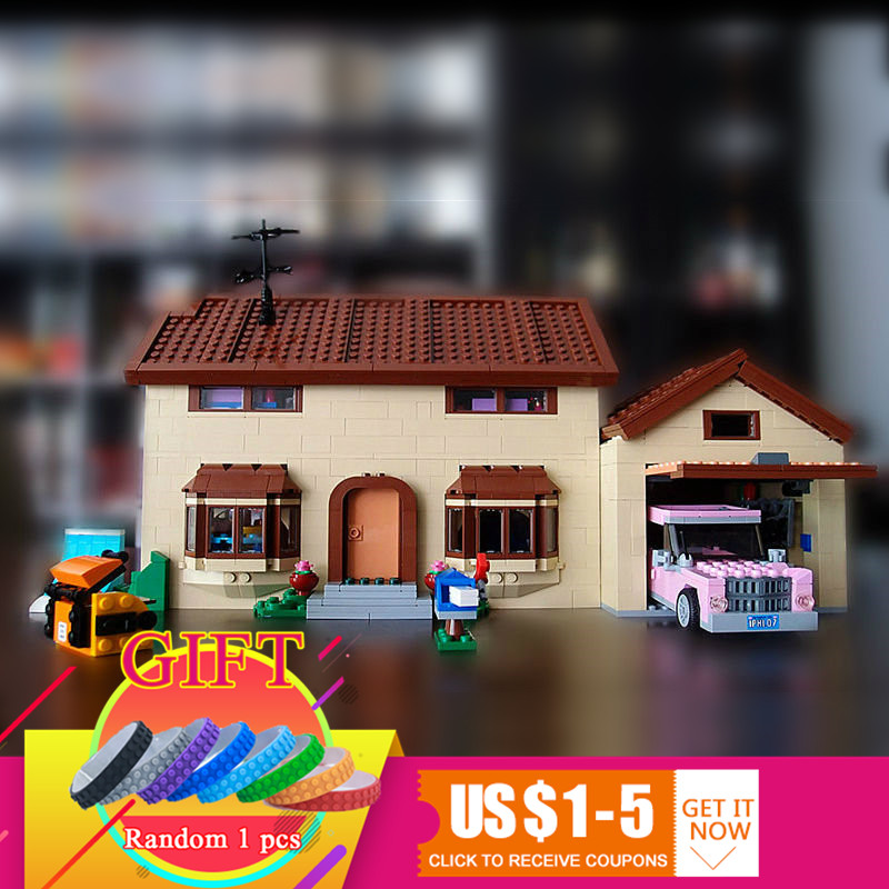 16005 2575Pcs The Simpsons House set Model Building Block Compatible with 71006 Boy gift toys lepin цена