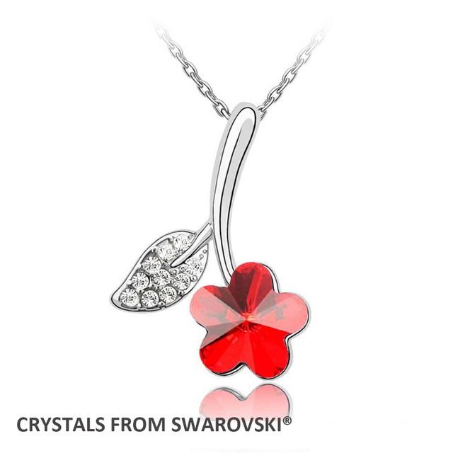 0a7bccb0710c14 Gioielli san Valentino 6 colori di cristallo prugna fiore ciondolo collana Con  Cristalli SWAROVSKI