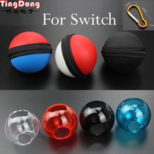 TingDong for Nintend Switch Poke Ball Plus Controller Carrying Bag & Crystal Case Transparent Shell Cover Pokeball Eevee(China)