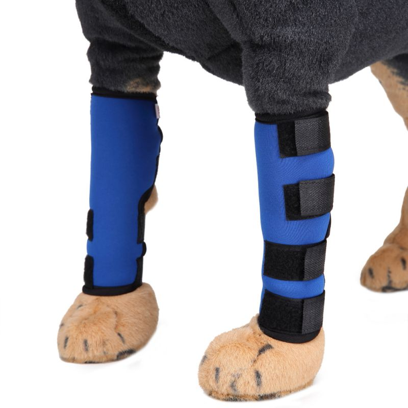 Pet Knee Pads Dog Hind Leg Hock Joint Wrap Support Brace Protector Breathable Injury Recover Legs Dog Protector Support 1pair