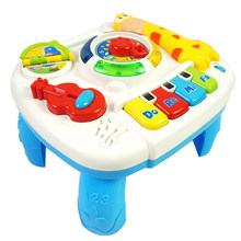 Baby Musical Toy Multi-function Instrument Table Farm Piano Musical Early Learning Educational Toys for Baby Christmas Gift(China)