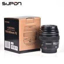 NOWY Yongnuo YN100mm F2 Średni Teleobiektyw Prime Obiektyw do Aparatu Canon EOS Rebel AF MF