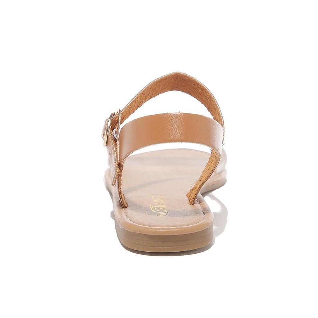 HTB1kRoUQmzqK1RjSZPcq6zTepXaw SAGACE Women's Sandals Solid Color PU Leather Sandals Women Fashion Style Flat Summer Women Shoes Women Shoes 2019 Sandals 41018