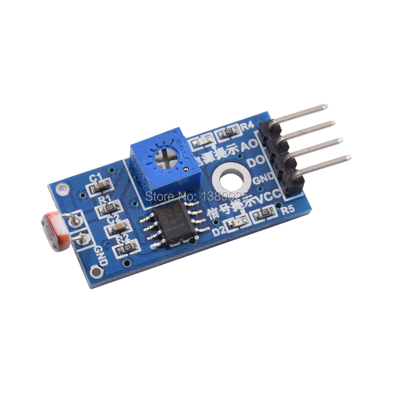 10pcs/lot  LM393 Optical Light-sensitive Detection Photosensitive Resistance Sensor Module For Arduino 4pin DIY Kit