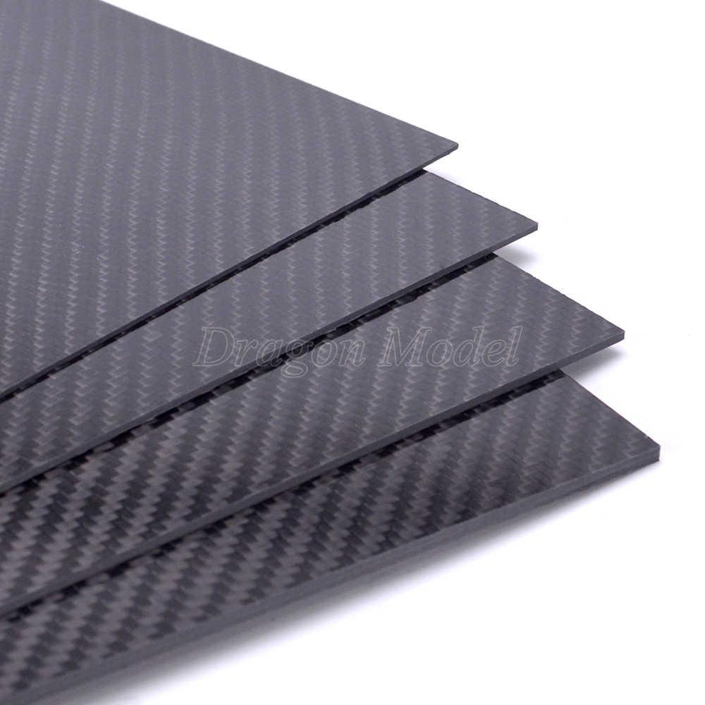 200mm X 300mm 3K Carbon Fiber Sheet Glossy / Matt Plate 0 5mm 1mm 1 5mm 2mm  3mm 4mm 5mm High Composite Hardness RC Material