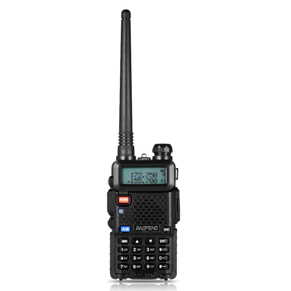 BF UV5R Walkie Talkie Manual Frequency Modulation 10KM Communication Distance 5W Power UV Dual Frequency Security Walkie Talkie