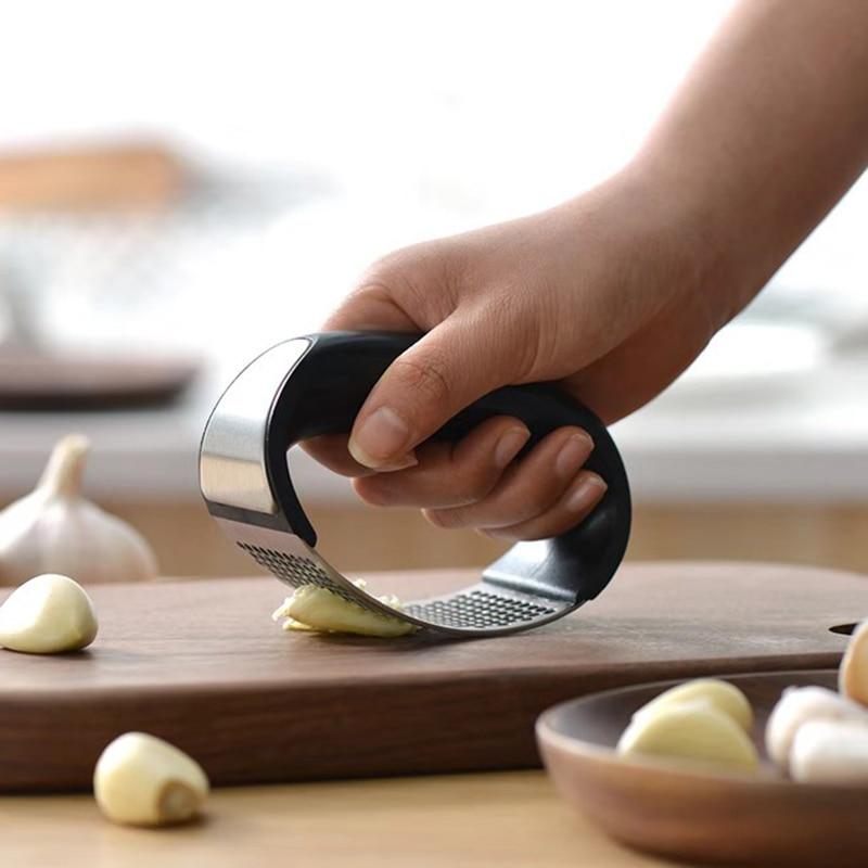 Black And Silver Kitchen Accessories: Kitchen Accessories Stainless Steel Manual Rocking Garlic