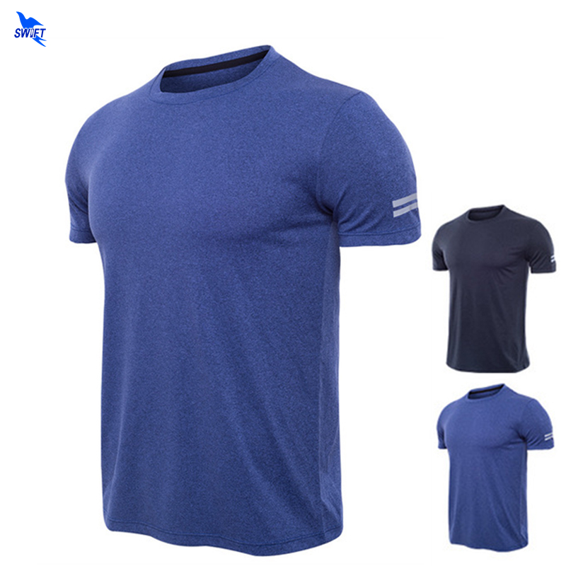Sport Shirt Men 2020  Summer Bodybuilding Tops Tees Running T-shirts Mens Gym Fitness Quick Dry Sportswear Training Clothing