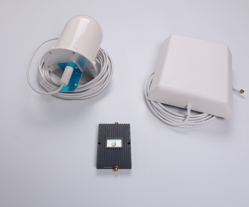 900/2100MHz Mobile Phone Signal Booster 3g 4g repeater with Indoor Directional Panel Antenna and Outdoor Broadband Omni Antenna