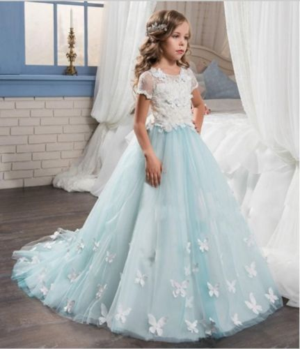NEW PRINCESS Party Flower GIRL Dress Bridesmaid Prom PAGEANT Communion Dresses 15 color infant girl dress baby girl pageant dress girl party dresses flower girl dresses girl prom dress 1t 6t g081 4