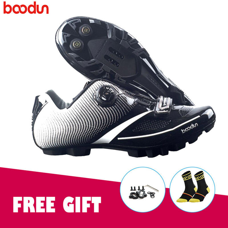 BOODUN Breathable Professional Self-Locking mountain bike ciclismo Cycling Shoes MTB Bicycle Shoes Non-Slip Bike Racing Shoes racmmer cycling gloves guantes ciclismo non slip breathable mens