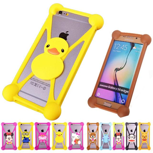 5cc4fd8b07b Cartoon Silicone Universal Cell Phone Cases For Samsung Galaxy R i9103  Advance i9070 Fundas Case Holster Silicon Coque Cover
