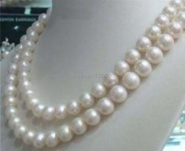 8-9mm White freshwater pearl long necklace 34 inches free shipping! fashion DIY jewelry wholesale and retail