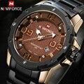Homens Marca De Luxo Completa Aço Relógios NAVIFORCE Homem Relógio Militar Do Exército relógio de Pulso de Quartzo dos homens À Prova D' Água Relogio masculino reloj