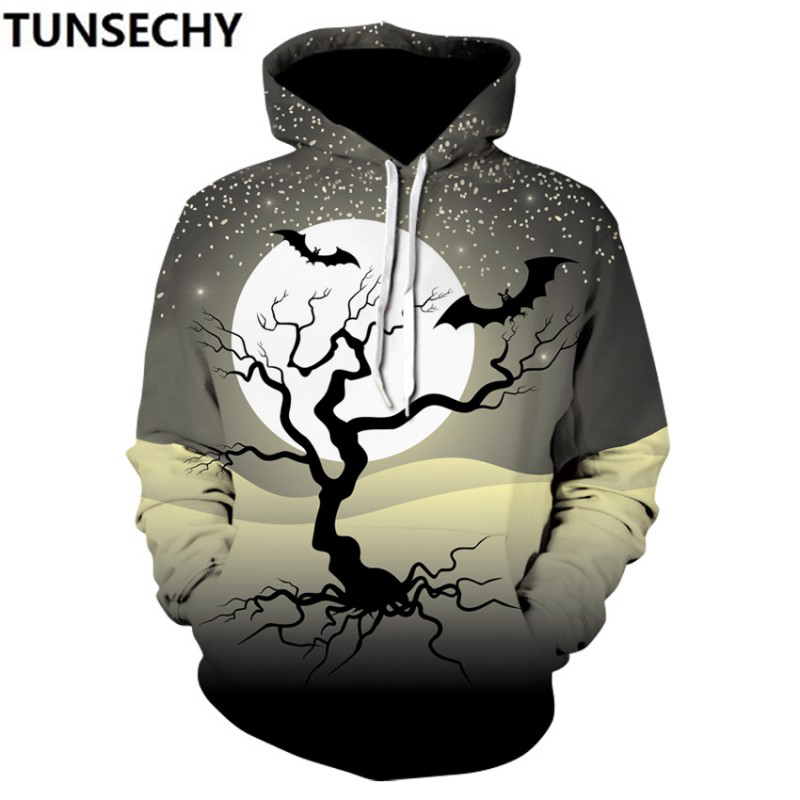 Foreign trade new hot style Halloween/Christmas 3D printing head hooded sweatercustom-made pattern wholesale and retail