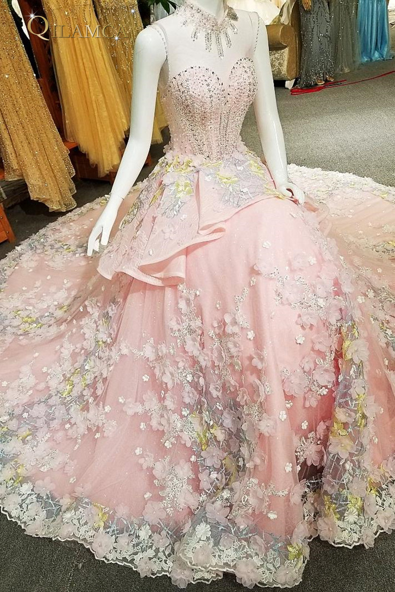 evening dress long 2018 lace vestidos de festa longo A line sleeveless formal dress long party real photos online