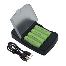 4 Slots smart USB battery charger Intelligent Charger for AA AAA Ni-MH Ni-Cd Rechargeable