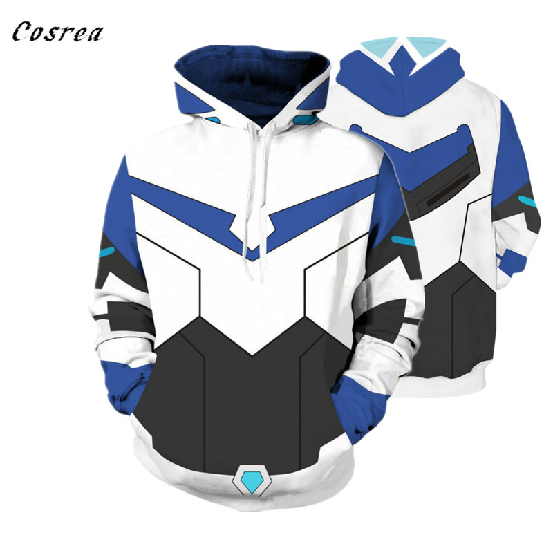 Voltron Rance: Cosplay Costume Keith Lance Sven Pidge Halloween Carnival for Men Women Sweatshirts 3D Printing Hooded Sweater