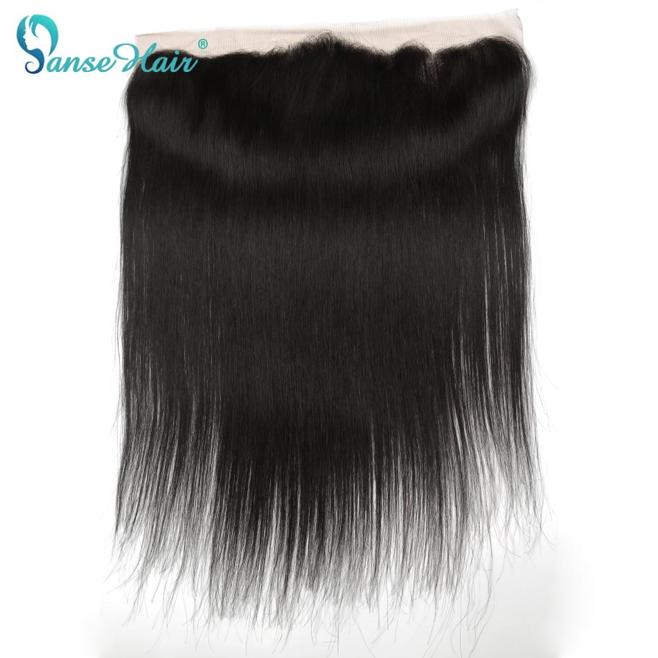 Panse Hair 13x4 Lace Frontal Closure Brazilian Straight Non Remy Hair Free Middle Three Part 100% Human Hair Free Shipping