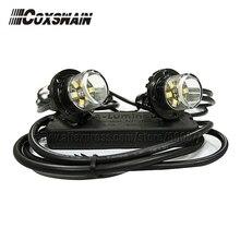 مصباح تحذير إخفاء LED VS S62 (رأسين) ، مصباح أمامي LED TIR 6 1 واط ، 100% مضاد للماء ، 25 نمط فلاش ، إضاءة داخلية