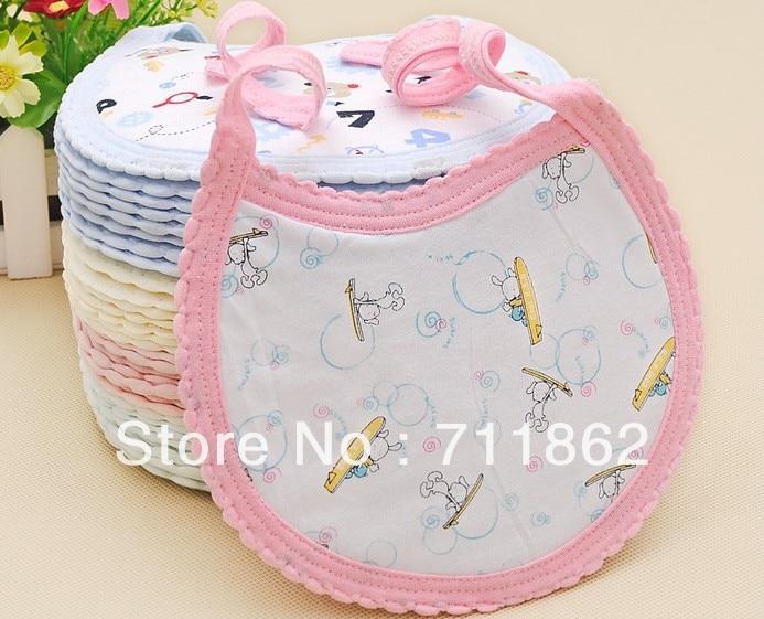 free shipping 100% cotton Baby bib Infant saliva towels Baby Waterproof bib Baby wear 20%Off