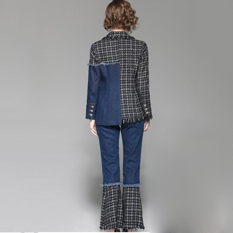 Mode Ensembles Ky385 European Ensemble Printemps American 2019 Veste De Denim Kulazopper Pantalon Femmes Gland Nouveau Deux Couture ZUqTWwP