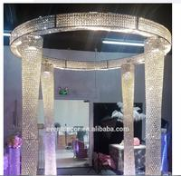 Wholesale Lighting Crystal Wedding Arch With Plug For Wedding Event Decoration