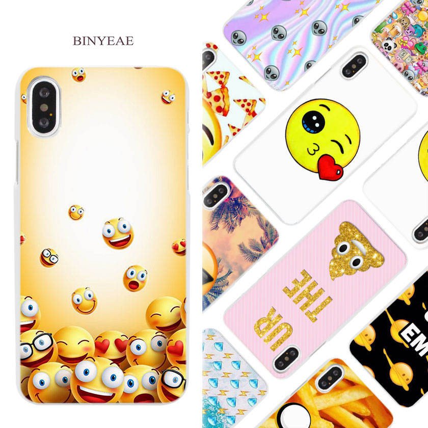 BINYEAE boss Bitch mode on pink please Emoji art Hard White Phone Case Cover Coque Shell for iPhone X 6 6S 7 8 Plus 5 5S SE 4 4S ...